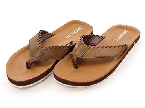 Brunotti Tongs Chaussures D'été Mocassins Marron ELICA Cuir EVA GR. 41 161315115 - Marron, 41 EU