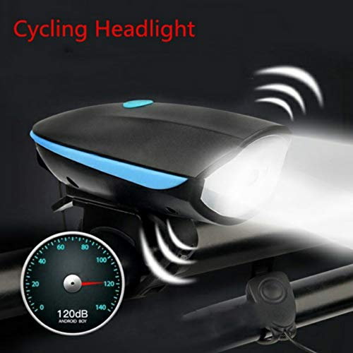 FASTPED Usb Rechargeable Bike Horn And Light 140 Db With Light 3 Modes Super Bright 250 Lumens (Random Color Red, Blue…