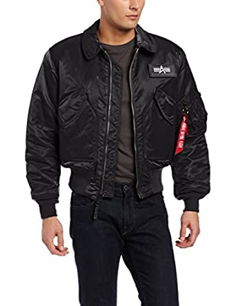 Alpha Industries Men's CWU 45/P Flight Jacket, Black, X-Small