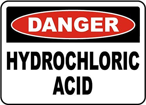 TAN550 Danger Hydrochloric Acid Sign, Metal Wanring Signs Private Property,Danger Safety Sign Plaque,Gate Sign,8