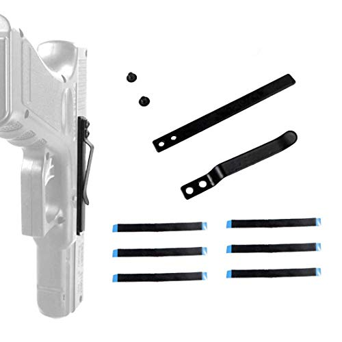 DMAIP Universal Gun Clip Holster for Semi-Automatic Handguns Ambidextrous Concealed Gun Belt Clip (Best Semi Automatic Pistol)