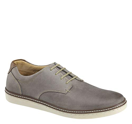 Johnston & Murphy Men's McGuffey Plain Toe Shoe Gray Oiled Leather 11 M US