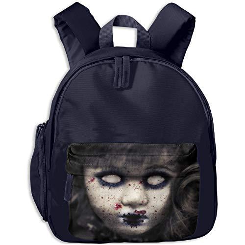 Halloween Zombie Doll Horror Evil Scary Face Children Backpack Pocket Zipper Outdoor Travel School Book Bag ()