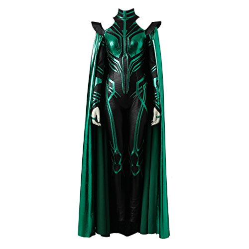 CosplayDiy Women's Suit for Thor: Ragnarok Hela Cosplay with Cloak L ()