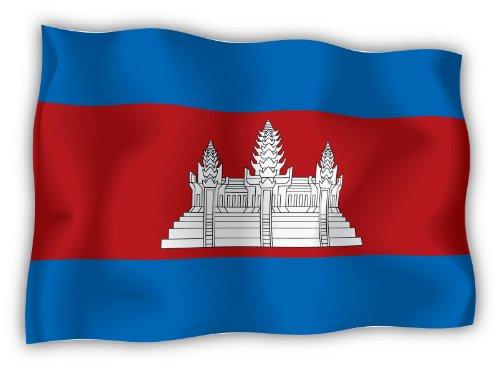 (Cambodia flag sticker decal 6