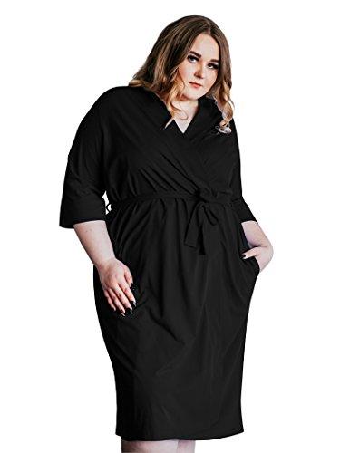SIORO Women's Cotton Robe Plus Size Lightweight Kimono Robe Gowns Knit Bathrobe Soft Sleepwear Short