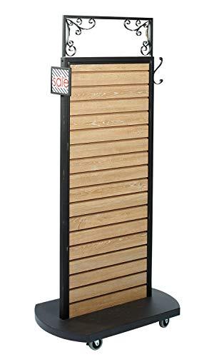 (Slatwall Rolling Merchandiser (Caramel Oak) - 32