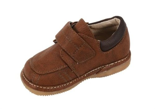 Squeak Me Shoes Boys Brown Town & Country Shoes (3, Brown)