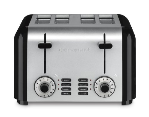 Cuisinart CPT-340 Compact Stainless 4-Slice Toaster, Brushed Stainless - smallkitchenideas.us