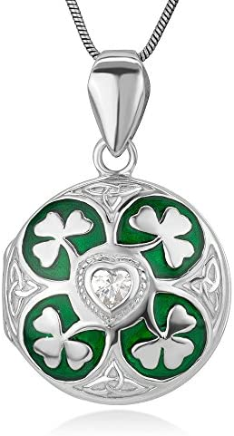 Sterling Silver Shamrock Trinity Necklace product image