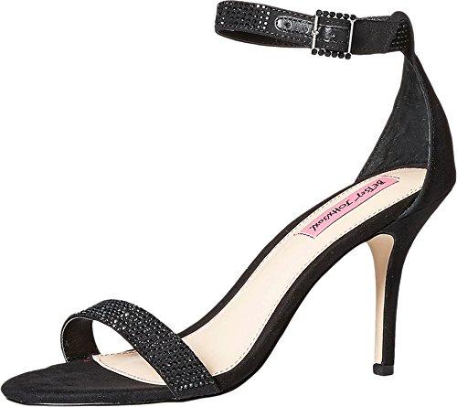 Betsey Johnson Brodway Ankle Strap Dress Sandals, Black, 11 -