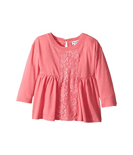 Splendid Littles Baby Girls Long Sleeve Lace Top, Pink, 12-18 MO