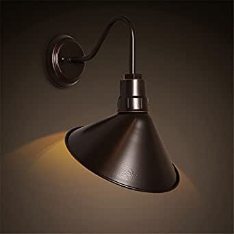 QIMLIGHT Modern Plug in Wall Lamp Loft Garden Balcony