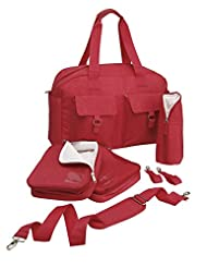 Cabin Max Baby Nappy Diaper Changing Bag with Insulated Organization Pods (Coral)