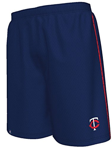 Majestic Minnesota Twins Navy Rush to Victory Mesh Shorts by (L=34-35)