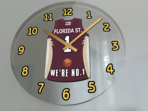 College Basketball USA - We're Number ONE College Hoops Wall Clocks - Support Your Team !!! (Florida State Seminoles)