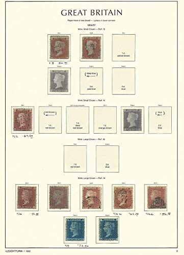 Great Britain Stamp Collection on Lighthouse Page 1854-57, 8//17, SCV $448