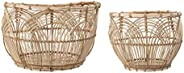 Bloomingville A82042387 Rattan Baskets, Natural