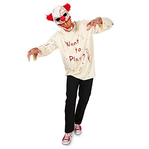 Dream Weavers Costumers Carn-Evil Playful Clown with Mask Adult Costume L ()