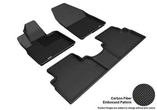 3D MAXpider L1HY09301509 Custom Fit All-Weather Kagu Series Floor Mats Black Complete Set for Hyundai Santa Fe Models