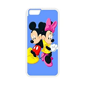 Protection Cover Rhqtc iPhone 6 Plus 5.5 Inch White Phone Case Lovely Minnie Mouse Cute Personalized Durable Cases