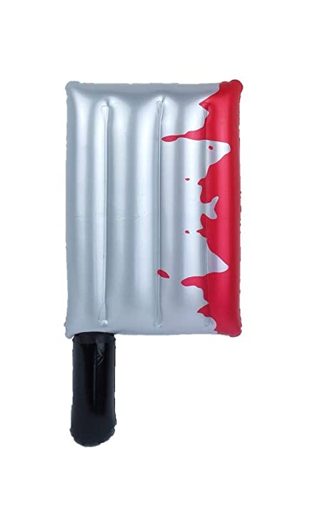 Amazon.com: 15.7 in inflable Horror Bloody Cleaver Halloween ...