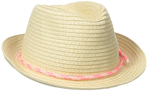 Carters Baby-Girls Newborn Coiled Braid Fedora with Tie, Natural, 0-9 Months