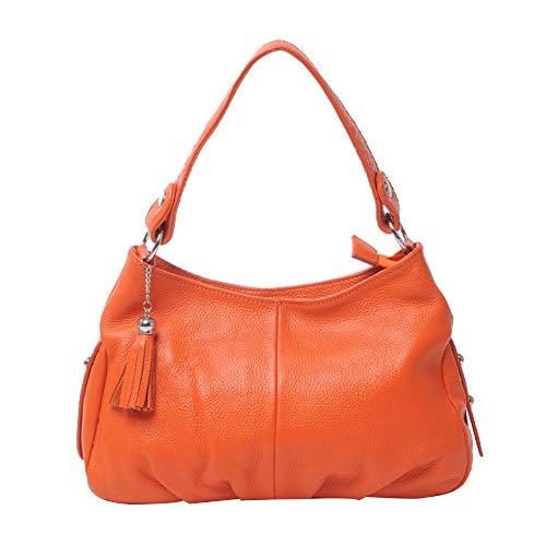tout Fourre Et Véritable Mode à Designer Pompon Femmes En Cross Orange Pour Sacs Cuir Body Loisirs Sacs Main à Avec Main,sac Grand Bandoulière Bag à n1TfwARq