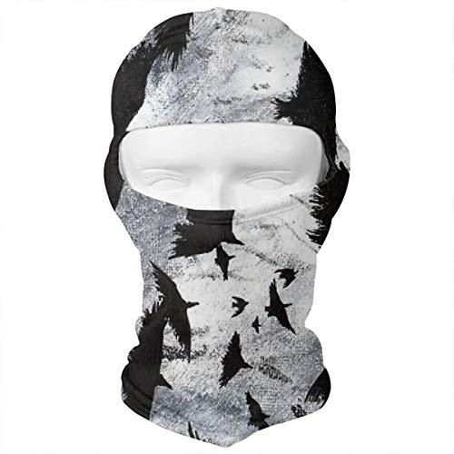 Crows Ravens Beautiful Art Balaclava Face Mask Headwear Helmet Liner Gear Full Face Mask Hood Ski Mask -