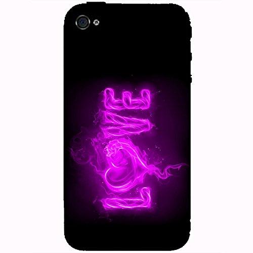 Coque Apple Iphone 4-4s - Love feu violet