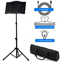 Donner Sheet Music Stand DMS-1 Folding Travel Metal Music Stand With Carrying Bag