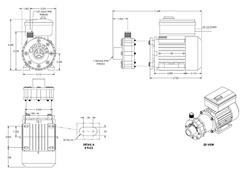 Chugger Pump Max Series Tcpssmax Ci Stainless Steel 115230 Volt
