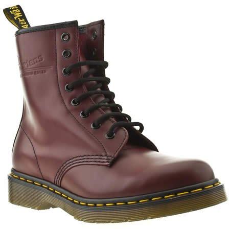 Dr Martens 8 Tie - 8 Uk - Burgundy - Leather