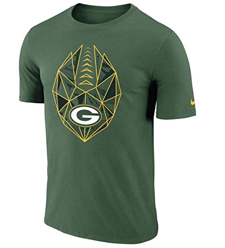 Nike Men's Dry Fit Cotton Green Bay Packers Icon Performance Green T Shirt (Large) (Green T-shirt Green Packers Bay)