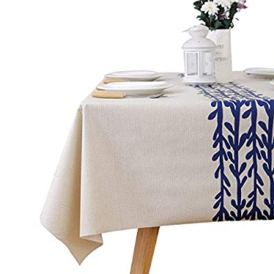 LEEVAN Heavy Weight Vinyl Rectangle Table Cover Wipe Clean PVC Tablecloth Oil-Proof/Waterproof Stain-Resistant-54 x 108 Inch(Rattan) - Material: 100% PVC, grade A vinyl heavy weight tablecloth, Variety stylish pattern of same PVC tablecloth available in LeeVan Store Spills, oil and liquids bead up and won't leak through the tablecloth so your tablecloth looks fresher longer Smooth surface and durable for any table setting whether casual or formal - tablecloths, kitchen-dining-room-table-linens, kitchen-dining-room - 41NzebNKc0L. SS400  -