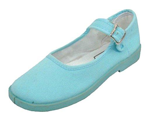 Lätt Usa Kvinna Bomull Mary Jane Skor Ballerina Balett Flats Skor (7 B (m) Oss, Svart) Ljusblå
