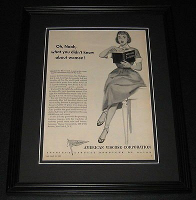 (1951 American Viscoe Corp ORIGINAL Framed Advertisement 11x14 Promotional Photo)