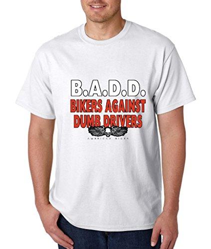 - B.A.D.D Bikers Against Dumb Drivers T-shirt Funny Biker Route 66 Shirts 3XL White h4