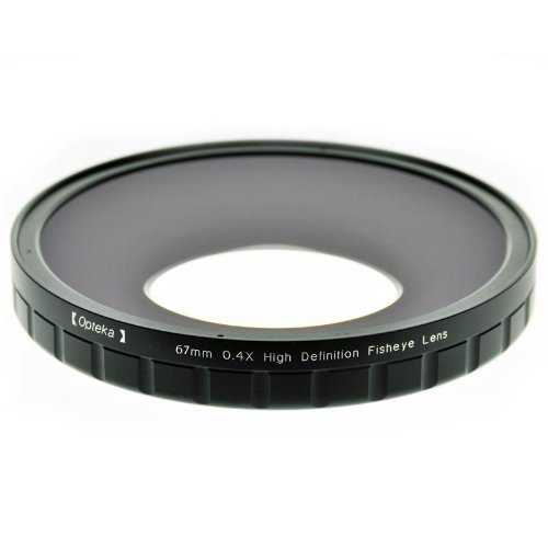 Opteka 67mm 0.4X HD2 Large Element Fisheye Lens for Professional Video Camcorders by Opteka