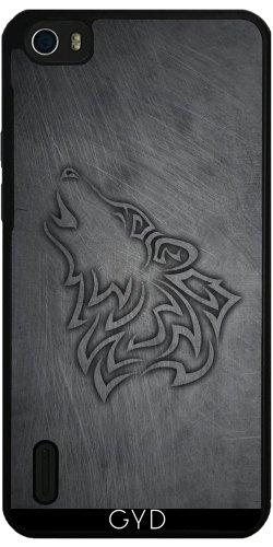 Funda de silicona para Huawei Honor 6 - Hombre Lobo Metálicos De Acero by Nina Baydur