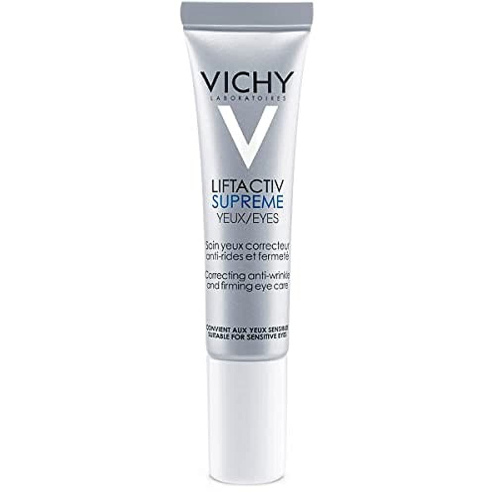 Vichy LiftActiv Supreme Anti Wrinkle Eye Cream, Firming Eye Cream with Caffeine for Dark Circles & Puffiness, Ophthalmologist Tested
