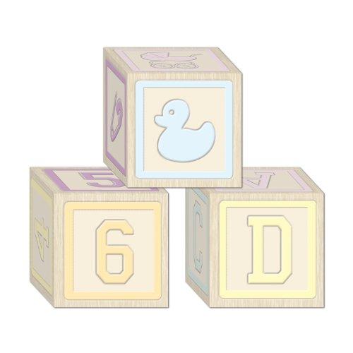 Baby Boy Shower Blocks (Baby Blocks Favor Boxes (3/Pkg))