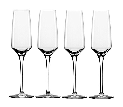 Stolzle 6.75-Ounce Experience Champagne Flute Glasses, Set of 4