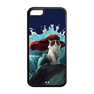 Cute Grumpy Cat Cartoon Hard Rubber Cell Cover Case for iPhone 5C,5C Phone Cases