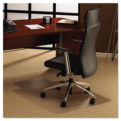 Cleartex Ultimat Chair Mat for Plush Pile Carpets, 35 x 47, With Lip, Clear, Sold as 1 Each by Floortex