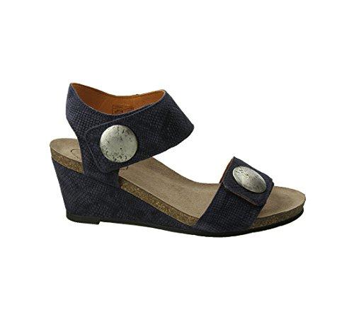 Taos Fodtøj Kvinders Karrusel 2 Læder Sandal Blå Prægede Ruskind VkS2fE