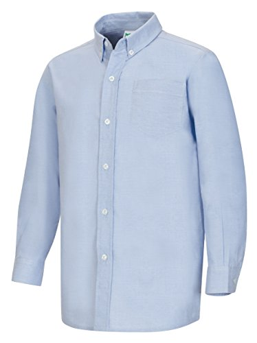 Classroom Men's Plus Size Long Sleeve Oxford Shirt, Light Blue, 2XL Long Sleeve Relaxed Fit Oxfords