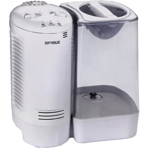Optimus 1.7-Gal. Warm Mist Humidifier White U-32010