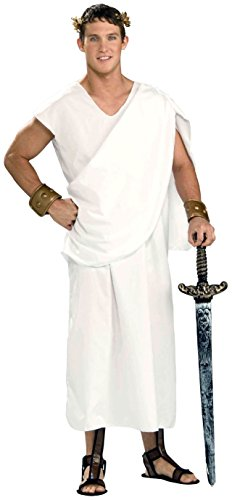 Forum Novelties Costume Toga, White, Standard -