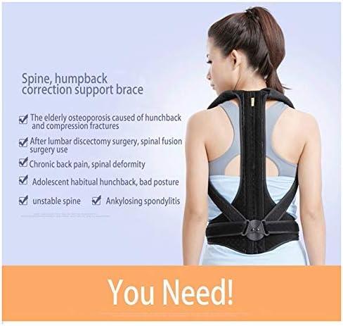 背もたれ姿勢矯正装置背中サポートブレースショルダーベルト腰椎サポートウエストベルト男性用痛み緩和、姿勢改善 (Color : L, Size : 170cm under)